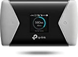 TP-Link M7650 - Enrutador inalámbrico 4G MiFi móvil CAT11 (batería 3000 mAh, Velocidad WiFi de 300 Mbps a 2.4 GHz, 867 M a 5G, Pantalla OLED, Ranura para Tarjeta SIM, Ranura para Tarjeta microSD)