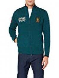 Hackett London Army Polo Fzip Chaqueta Punto para Hombre