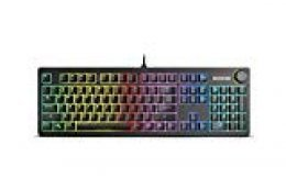 Ozone Strikeback - OZSTRIKEBACKSP -Teclado Gaming, Mecánico, RGB, Color Negro