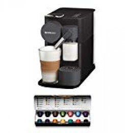 Nespresso De'Longhi Lattissima One EN500B - Cafetera monodosis de cápsulas Nespresso con depósito de leche compacto, 19 bares, apagado automático, color negro