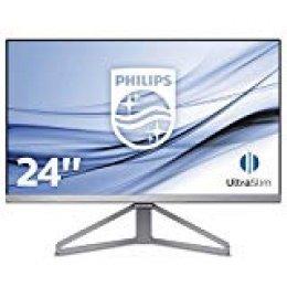 """Monitor Philips 245C7QJSB/00 - Pantalla para pc de 24"""" (resolución 1920 x 1080 Pixels, tecnología WLED, Contraste 1000:1, 5 ms, FLickerFree, HDMI, Displayport)"""