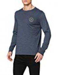 BILLABONG Rotor LS tee Camiseta, Azul (Navy Heather 1227), One Size (Tamaño del Fabricante: L) para Hombre