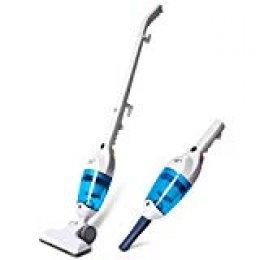 PUPPYOO WP3006 Aspirador Escoba Multifuncional Mini Aspiradora Vertical de Hogar, Limpiador Vertical de Mano,Ruido Bajo, Azul