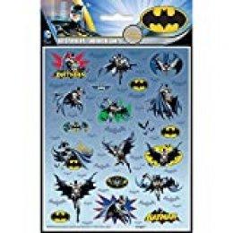 Unique Party - Hojas de Pegatinas - Diseño de Batman - Paquete de 4 (49918)