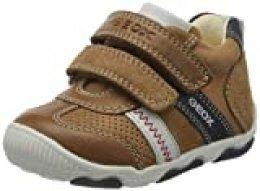 Geox New Balù Baby Junge, Zapatillas de Deporte para Bebés, Marrón (Caramel C5102), 18 EU