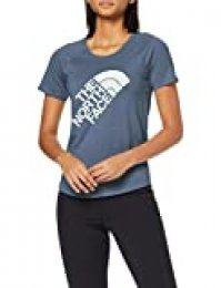 The North Face Graphic Play Hard Camiseta de Manga Corta, Mujer, Blue Wing Teal Heather, L