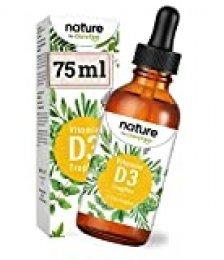 Vitamina D3 - 5.000 U.I. por 5 gotas - 75ml (2550 gotas) Probado en laboratorio - En aceite de MCT de coco - Alta dosis, líquido sin aditivos