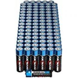 Ansmann - Pilas 96 Unidades. Mignon AA Negro/Azul