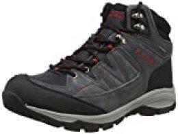 Aigle Vedur Mtd, Zapatos de High Rise Senderismo para Hombre, Gris (Mid Grey/Rouge 001), 40 EU