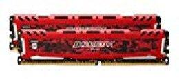 Crucial Ballistix Sport LT BLS2K16G4D32AESE 3200 MHz, DDR4, DRAM, Memoria Gamer Kit para ordenadores de sobremesa, 32 GB (16 GB x 2), CL16 (Rojo)