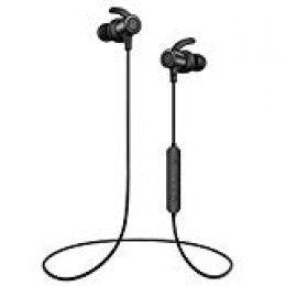 Auriculares Bluetooth 4.1SoundPEATS Cascos Deportivos Magnéticos In-ear Inalámbricos con Mic, Resistente al Agua IPX6, Duración 8 Horas para iPad, iOS Android Móviles Smartphones PC