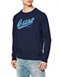 G-STAR RAW Fast Raglan_Sweatshirt Sudadera, Azul (Imperial Blue A613-1305), S para Hombre