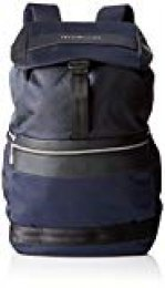 Tommy Hilfiger - Nylon Mix Flap Backpack, Carteras Hombre, Azul (Tommy Navy),17x46x35 cm (W x H x L)