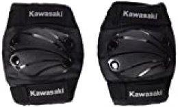 Kawasaki KX100549 - Rodilleras y coderas infantil, color Negro, talla Small