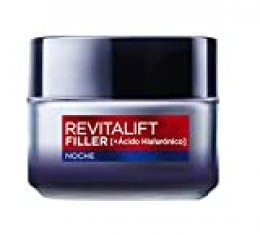 L'Oréal Paris Dermo Expertise - Revitalift Filler Crema Rellenadora de Noche, con ácido hialurónico - 50 ml
