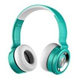 Auriculares Bluetooth 5.0 Inalámbricos con Micrófono, Funwaretech Auriculare con Cable Plegable Wireless Headphones con HiFi Sonido Estéreo y Bajos Profundos, Cascos Bluetooth para Móviles,PC(Verde)