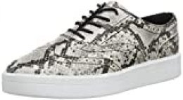 Clarks Hero, Zapatos de Cordones Brogue para Mujer, Gris (Grey Snake Grey Snake), 37 EU