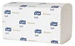 Tork 100278 - Toallas de mano con zigzag, premium, color blanco, 23 cm de longitud desplegada, 200 unidades