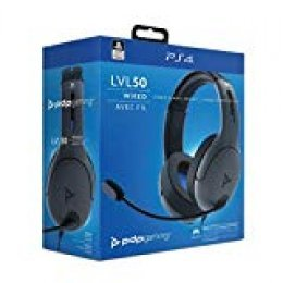 PDP - Auricular Stereo Gaming LVL50 Con Cable, Gris (PS4)
