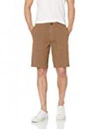 Marca Amazon - Goodthreads: pantalones cortos de lona elástica con bolsillos para hombre, 28 cm de tiro.