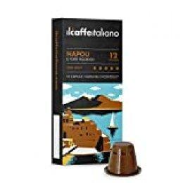 FRHOME - Nespresso 100 Càpsulas compatibles - Il Caffè Italiano - Mezcla Napoli Intensidad 12