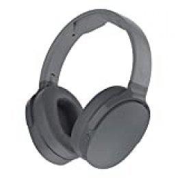 Skullcandy Hesh 3 Over-Ear Bluetooth, Auriculares Inalámbricos, con Micrófono y Batería de Carga Rápida con 22h de Duración, Almohadillas de Espuma Viscoelástica para Más Confort, Gris