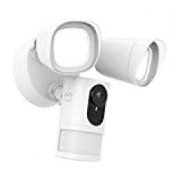 Cámara de Seguridad eufy Security con Foco, cámara de vigilancia 1080p,sin Cargo,Brillo de 2500 lúmenes,Resistente a la Intemperie e Impermeable(se Necesita cableado y Caja de Cable a Prueba de Agua)