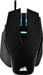 Corsair M65 Elite RGB Óptico FPS - Ratón para Juegos (18 000 PPP Óptico Sensor, Retroiluminación RGB LED, Sistema de Peso Ajustable) Color Negro