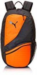 PUMA 75573 Backpack, Unisex Adulto, Black/Shocking Orange, OSFA