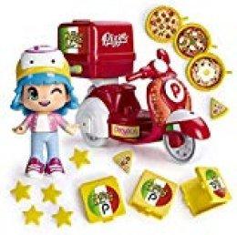 Pinypon - Moto de Pizzería, con 1 figura de Pinypon, para niños y niñas de 4 a 8 años (Famosa 700014911)