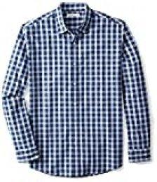 Amazon Essentials – Camisa informal de popelín de manga larga de corte recto estándar para hombre