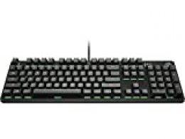 HP Pavilion 500 - Teclado para Gaming (retroiluminación LED, Anti-ghosting y N-Key Rollover, tecla de Modo Gaming) Negro