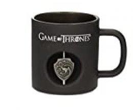 SD toys - Mug Game of Thrones - Targaryen Verre Noir Logo Rotatif - 8436546897552