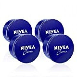 NIVEA Creme en pack de 4 (4 x 400 ml), crema hidratante de manos, cara y cuerpo para toda la familia, crema universal para una piel suave e hidratada, crema multiusos