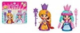 Pinypon Pack de 2 Reinas con Capa y cetro, niñas a Partir de 3 años (Famosa 700015653)