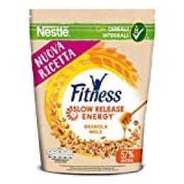 Cereales NESTLÉ Fitness granola - Copos de avena integral y trigo con miel - Paquete de 300g