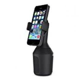 Belkin - Soporte de Smartphones para portavasos de Coche (Soporte para el portavasos de iPhone 11/11 Pro/11 Pro Max, XS/XS Max, XR/X, SE y Dispositivos de Samsung, LG, Sony, Google y Otros)
