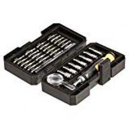 AmazonBasics - Juego de minillave de trinquete y puntas, 34 piezas