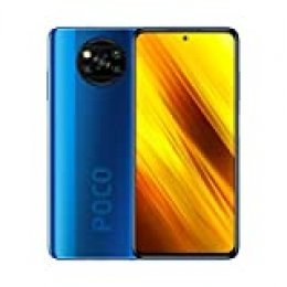 "Poco X3 NFC (Pantalla AMOLED de 6,67"" FHD+, DotDisplay, 6GB+64GB, Cámara cuádruple de 64MP, Snapdragon 732G, 5160mAh con Carga de 33W, MIUI 12 para Poco, NFC) Azul Cobalto"