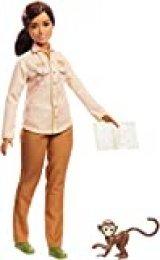 Barbie National Geographic Quiero Ser Conservadora de la naturaleza, muñeca con accesorios (Mattel GDM48)