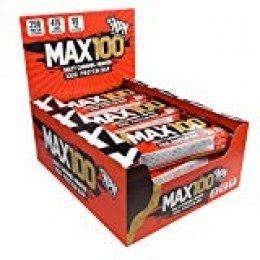 NPN MAX 100 barra de proteínas y carbohidratos | Barrita proteica para deporte, sabor premium | 9x100g Salado Caramelo Heaven