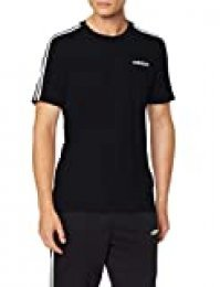 adidas E 3s tee Camiseta de Manga Corta, Hombre, Black/White, XS