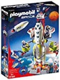 PLAYMOBIL Space Cohete con Plataforma de Lanzamiento, A partir de 6 años (9488)