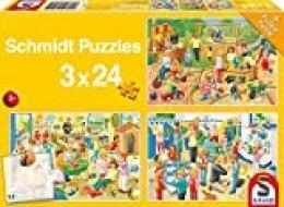 Schmidt un día en la guardería Jigsaw Puzzle Set (3x 24Piezas)