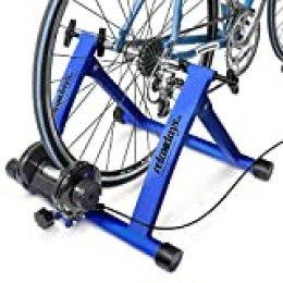 Relaxdays Bicicleta estática, Convierte Bicicleta común a estática, Mide: 54 x 46 x 20 cm, Azul