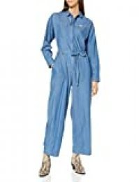 Lee Whiz IT Coverall Petos, Azul (Frost Blue MJ), Small para Mujer