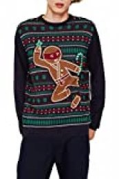 edc by Esprit 109cc2i013 suéter, Azul (Navy 400), Medium para Hombre