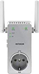 Netgear EX3800 Repetidor WiFi AC750, amplificador WiFi doble banda, toma de enchufe, puerto LAN Gigabit, compatibilidad universal