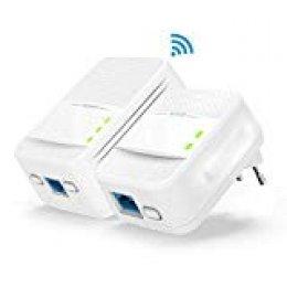 Tenda PH10 Kit Adaptador Extensor de Red por línea eléctrica, PLC (AV1000, Puertos Gigabit, 2.4GHz 5GHz, WiFi Clone,WPS,Compatible con Otros adaptadores de Marca, Red de Invitados) Juego de 2