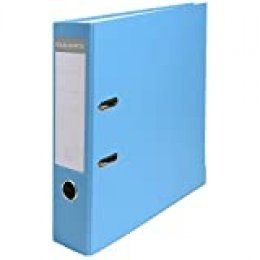 Exacompta 918412B - Archivador de palanca polipropileno, A4, Lomo 80mm, Azul Claro, 1 pieza